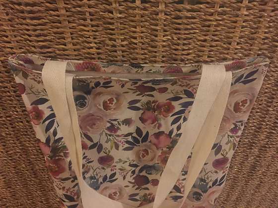 Buttonpearl Watercolour Floral Tote Bag