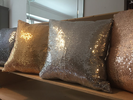 Sparkly sequin cushions