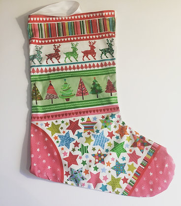 Festive toy stocking