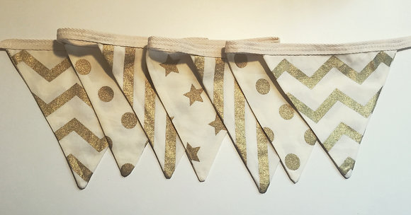 Christmas Gold Bunting