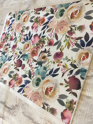 Buttonpearl Fabric - Watercolour Floral per metre