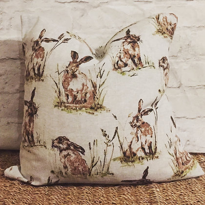 Hare linen scatter cushion