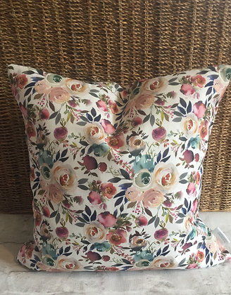 Watercolour Floral & Colour Scatter Cushion