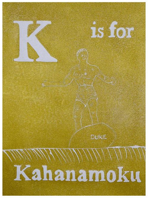 K is for Kahanamoku