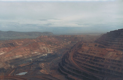 Overview of the BHP Iron Ore Mine at Newman, Western Australia