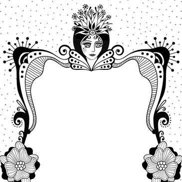 Decorative Frame Line Art