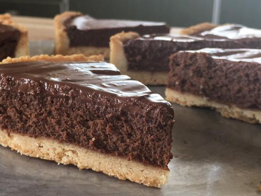 טארט שוקולד גבינה שעשיתי לעצמי