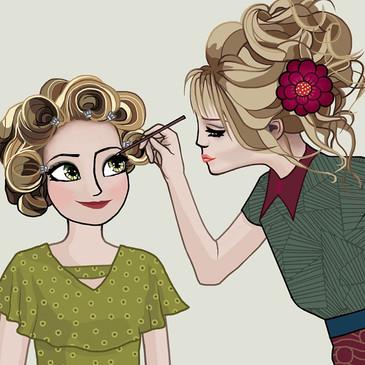 Hairdresser beauty Salon Illustration 3