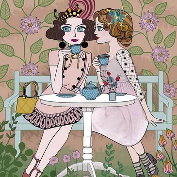 Garden Tea Party Girls