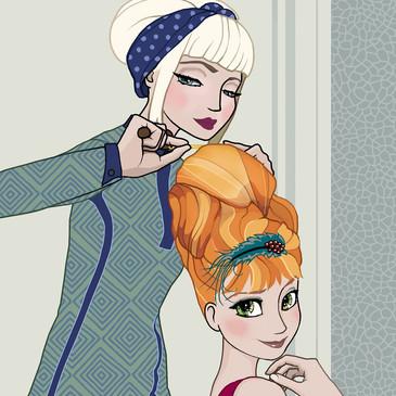 Hairdresser Salon Illustration 2