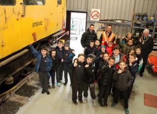 Pupils from Ysgol Pum Heol visit make educational visit to LMMR