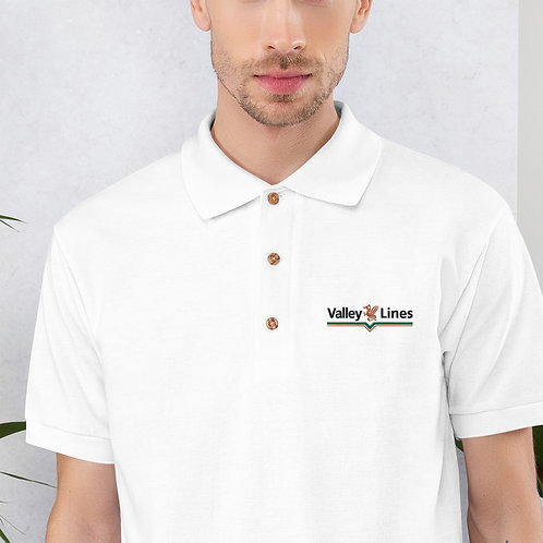 Valley Lines Embroidered Polo Shirt