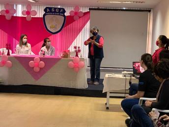 Temas que marcaram a ASGF neste mês: Outubro Rosa e Cine Debate sobre Violência Doméstica