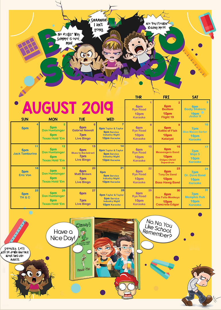Wall Calendar for Clancy's