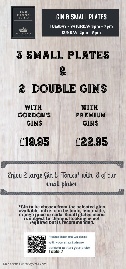 Copy of gin  small plates 2295 - Made wi