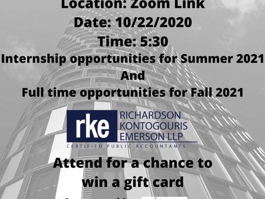 Accounting Society 10/22 Meeting