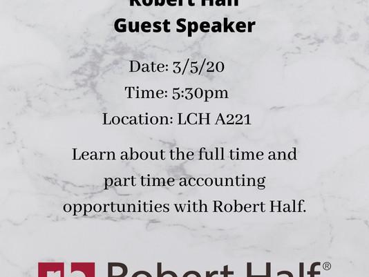 Accounting Society Meeting 3/5/2020