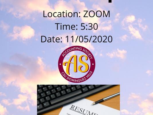 Accounting Society 11/5 Meeting