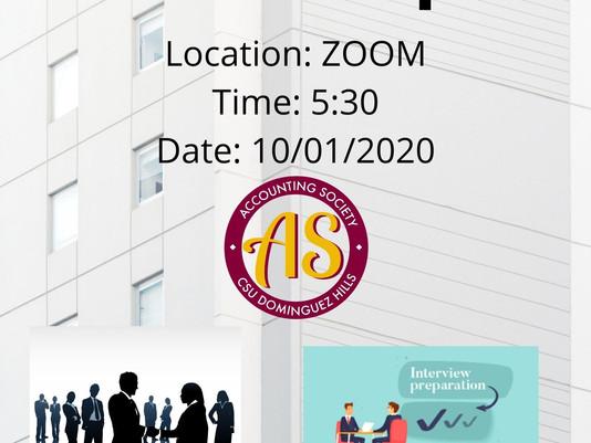 Accounting Society 10/1 Meeting