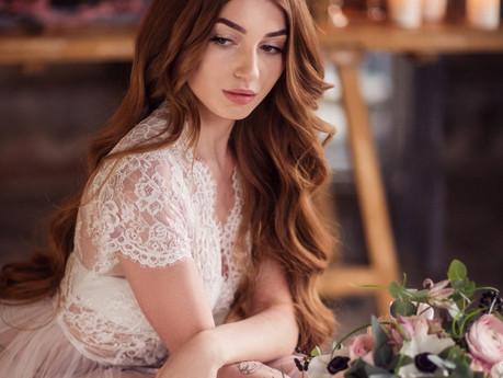 Утро невесты в лофте с декором - свадебная фотосессия в Москве