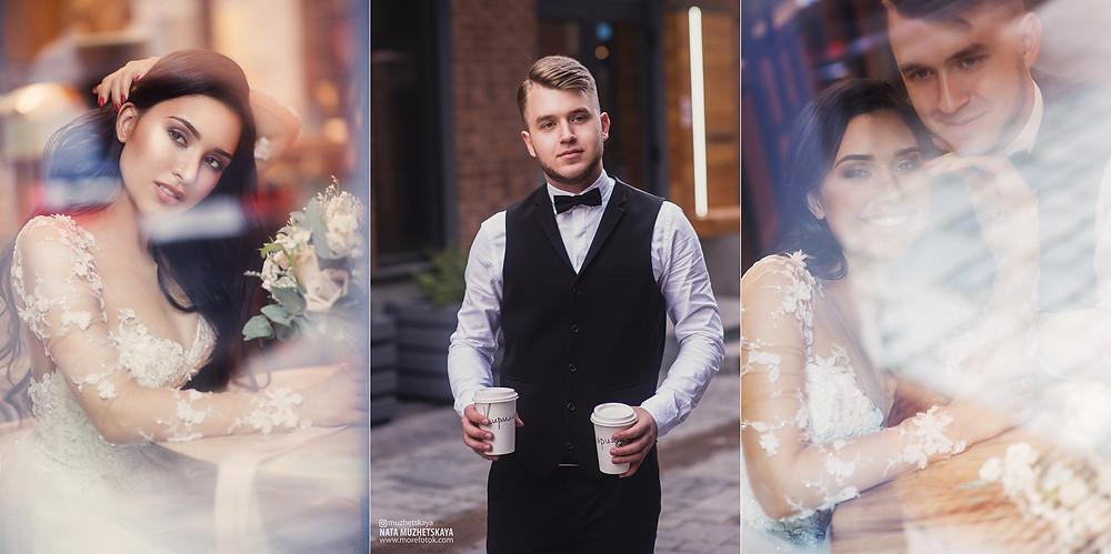 Свадебная фотосессия для двоих в лофт квартале без гостей