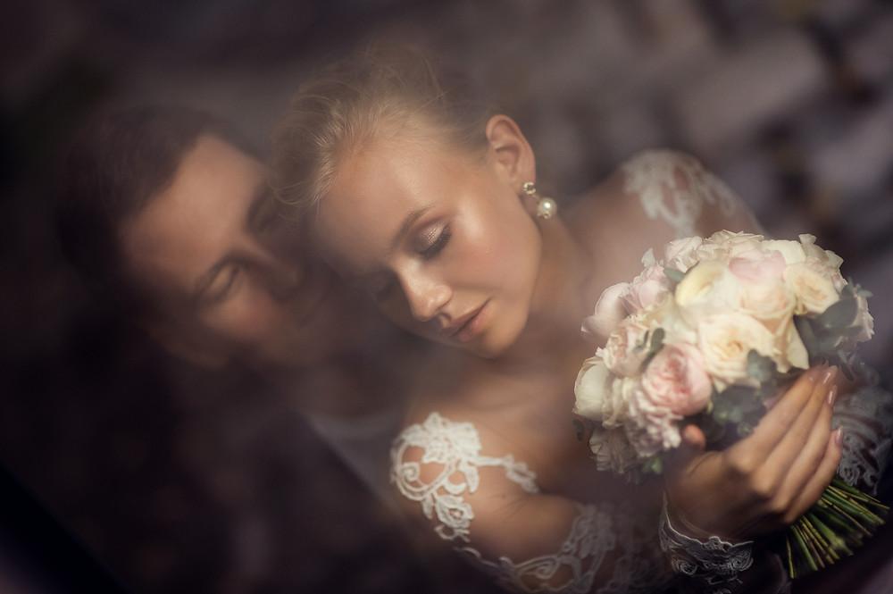 Портрет жениха и невесты, элегантные свадебные фотографии - фотограф Наталия Мужецкая