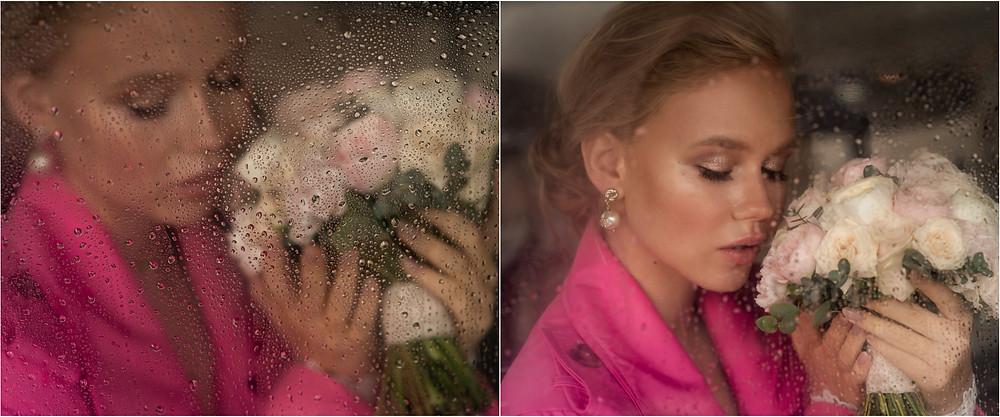 Свадебный портрет, Невеста с Букетом, свадебный фотограф Наталия Мужецкая
