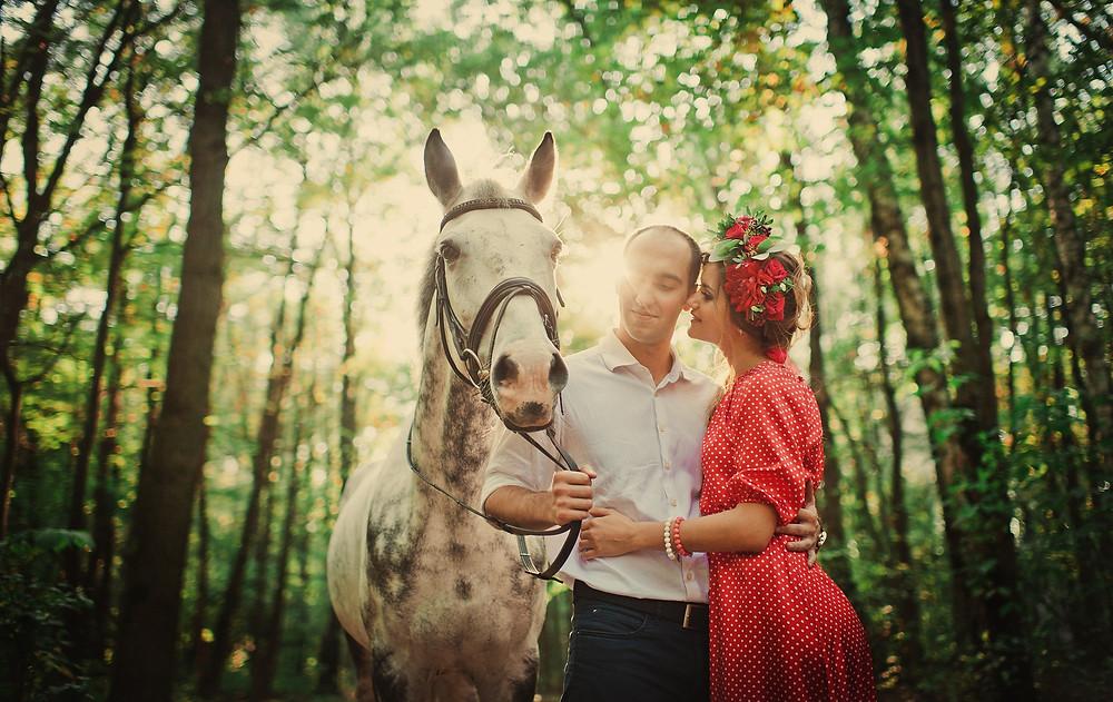 Лавстори в Москве, фотосессия влюбленной пары