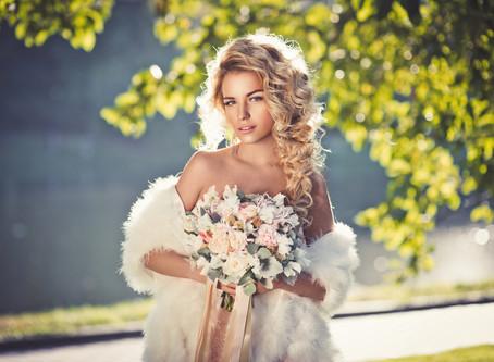Портрет невесты с красивым светом