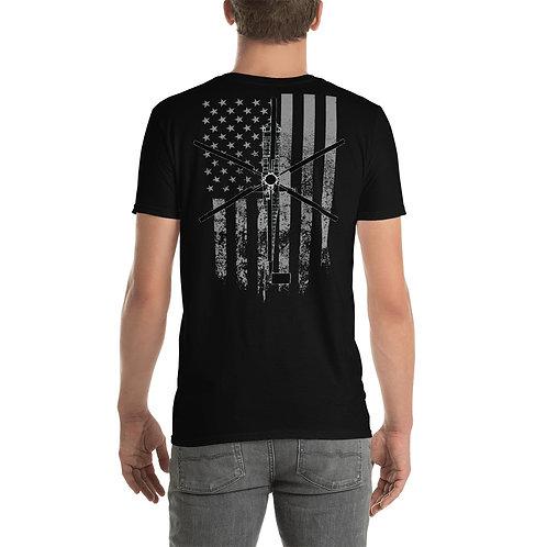 Skycrane American Flag T- Shirt Free Shipping