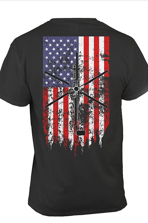 Skycrane American Flag T shirt