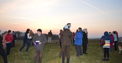 Gathering for sunrise service Orton Scar