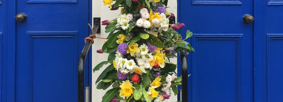 Flower cross Kirkby Stephen