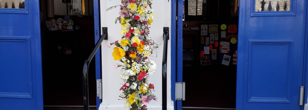 Floral cross at Kirkby Stephen Easter Su