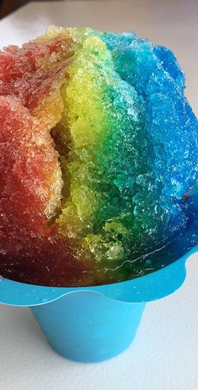 Rainbow Shaved Ice Snowcone Snoball