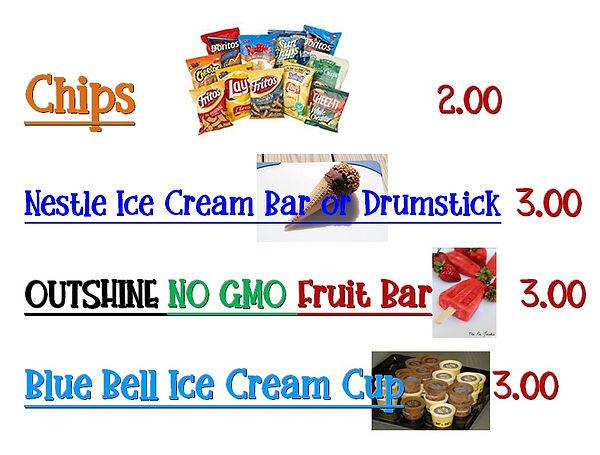 Ice Cream and Fruit Bars