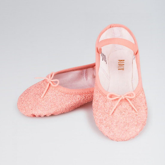 Girls Pink Sparkly Ballet Shoes