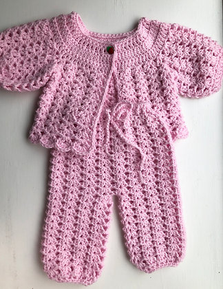 Lace Strawberry 2-Piece Baby Suit