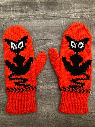Adult Orange Cat Mittens