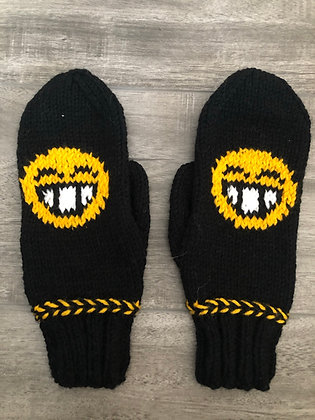 Adult Smiling Emoji Mittens
