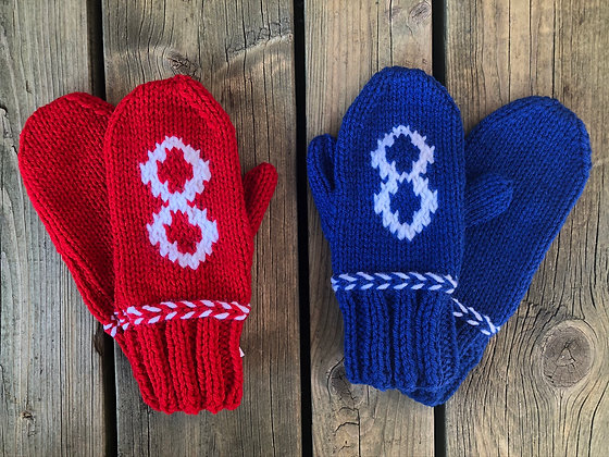 Youth Metis Flag Mittens (Red or Blue)