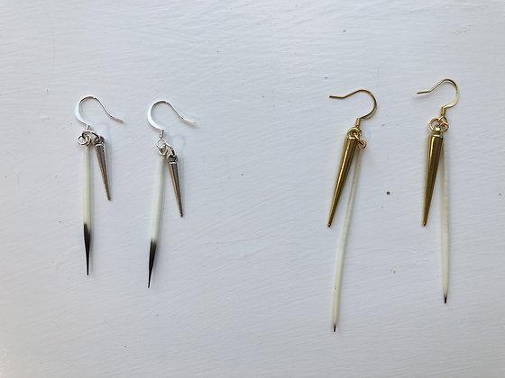 Hypoallergenic Quill + Spike Earrings