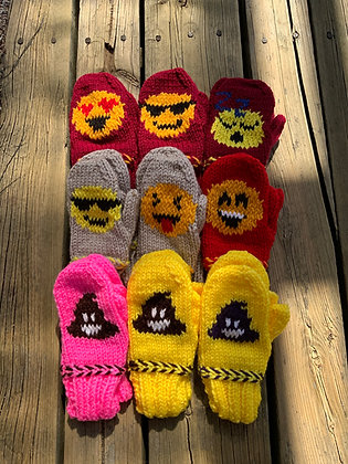 Child's Emoji Mittens