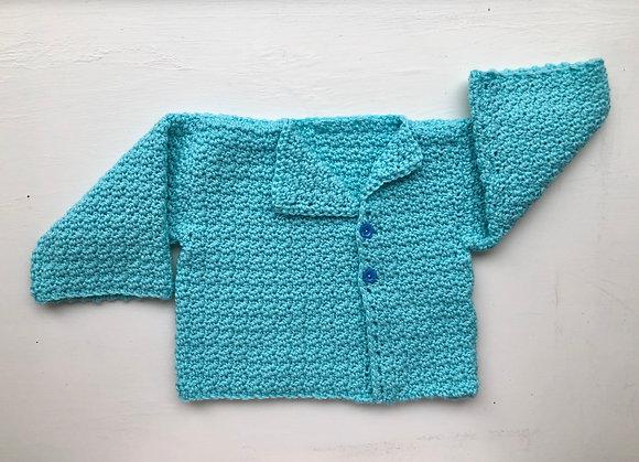 Wide Kimono 2-Button Baby Sweater