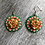 Thumbnail: Orange Rose Earrings