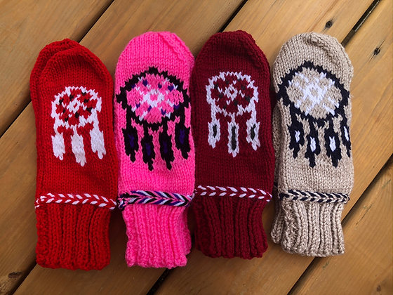 Adult Dream Catcher Mittens