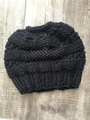 Black Messy Bun Hat
