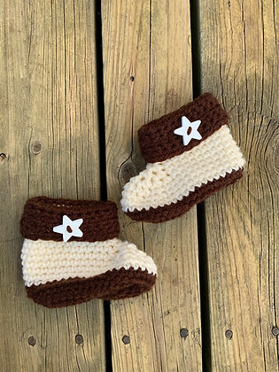 Star Two-Toned Baby Boots