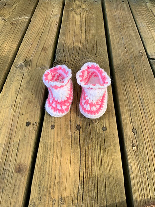 Lace Edge Baby Shoes