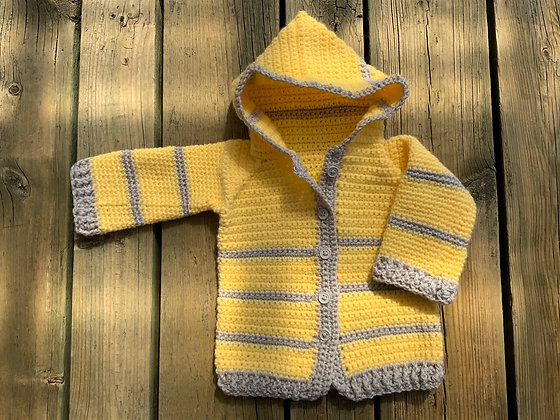 Striped Baby Hoodie